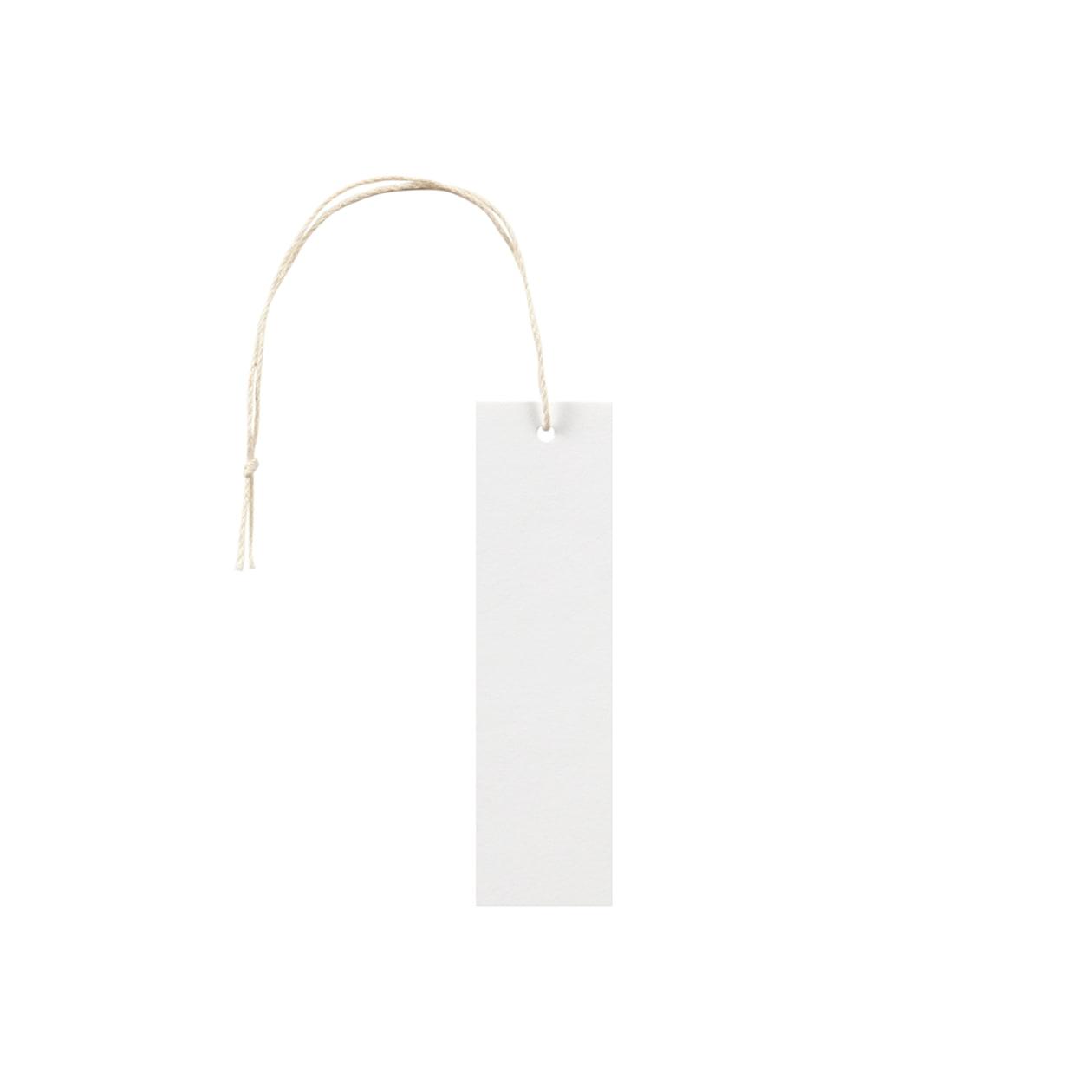 タグ25×90四角形 コットンスノーホワイト 232.8g タグ紐(細)コットン生成