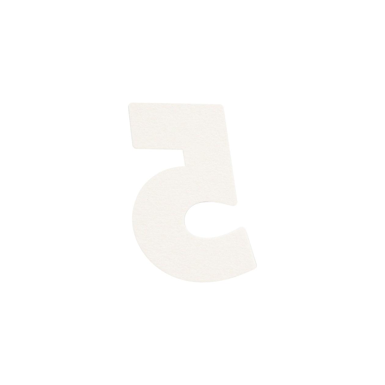 No.395ボード ネームカードDC 数字5 シルバー