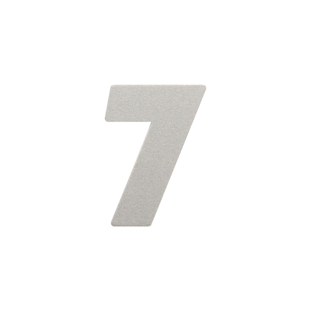 No.395ボード ネームカードDC 数字7 シルバー
