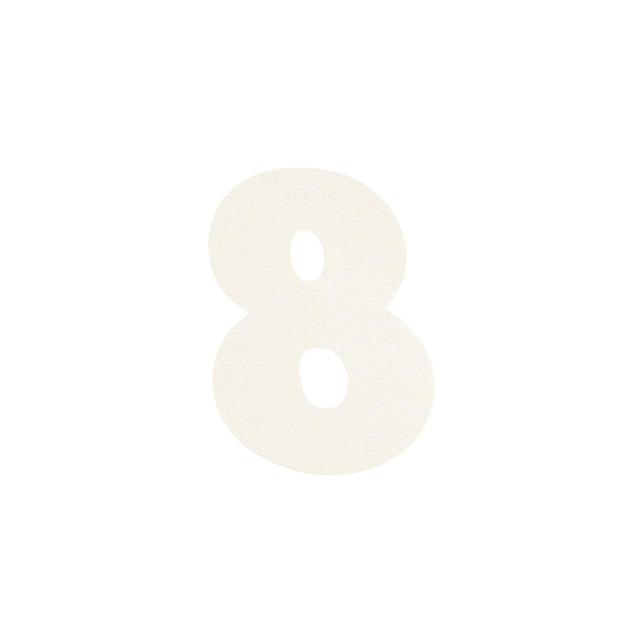 No.395ボード ネームカードDC 数字8 シルバー