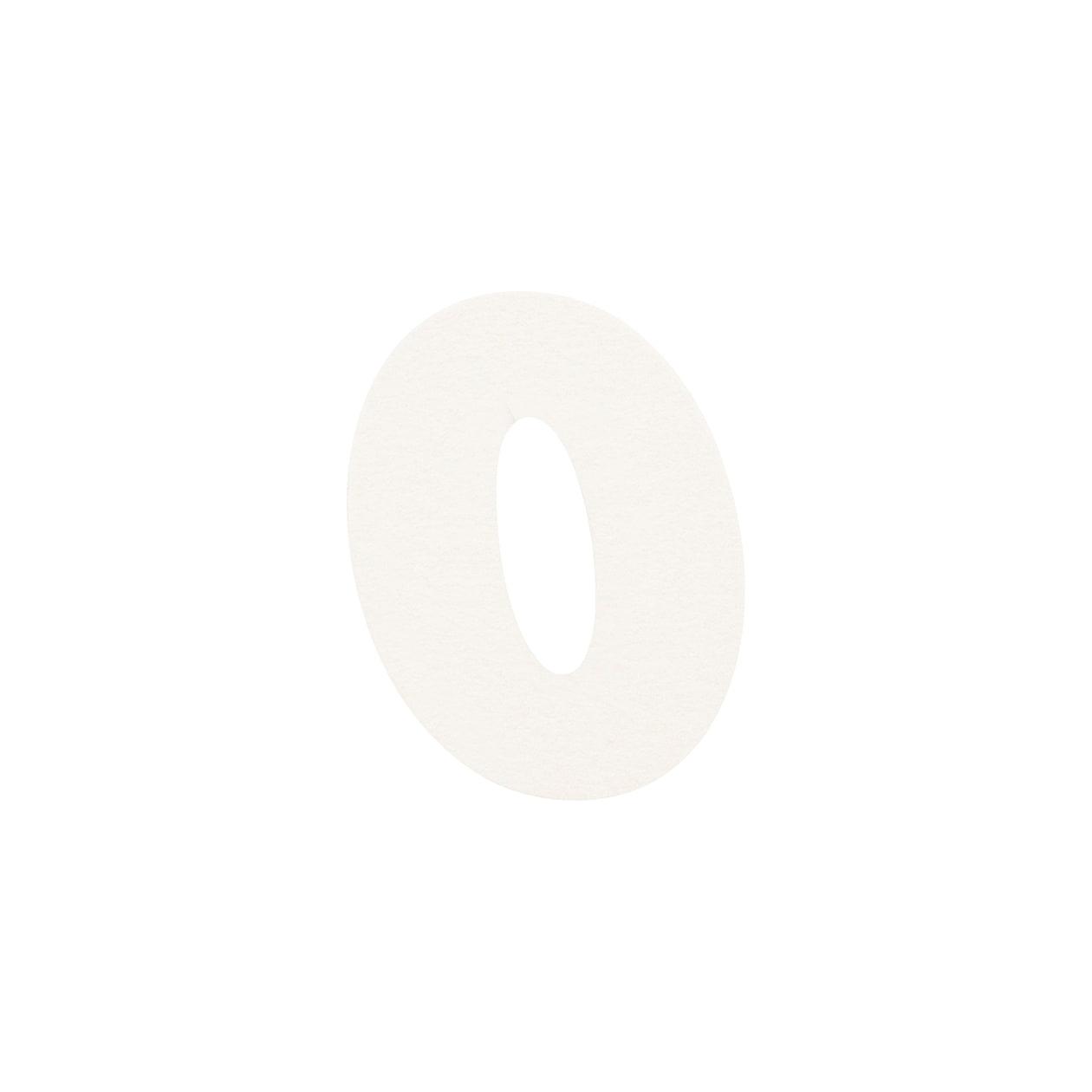 No.395ボード ネームカードDC 数字0 シルバー
