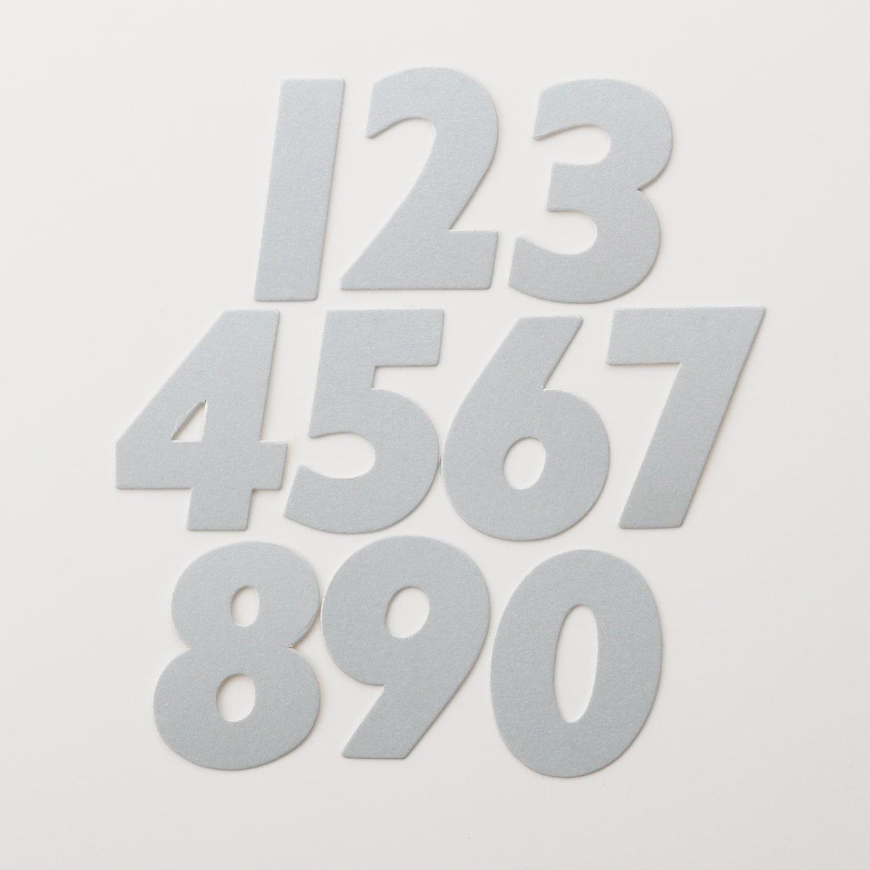 No.395ボード ネームカードDC 数字 10枚セット