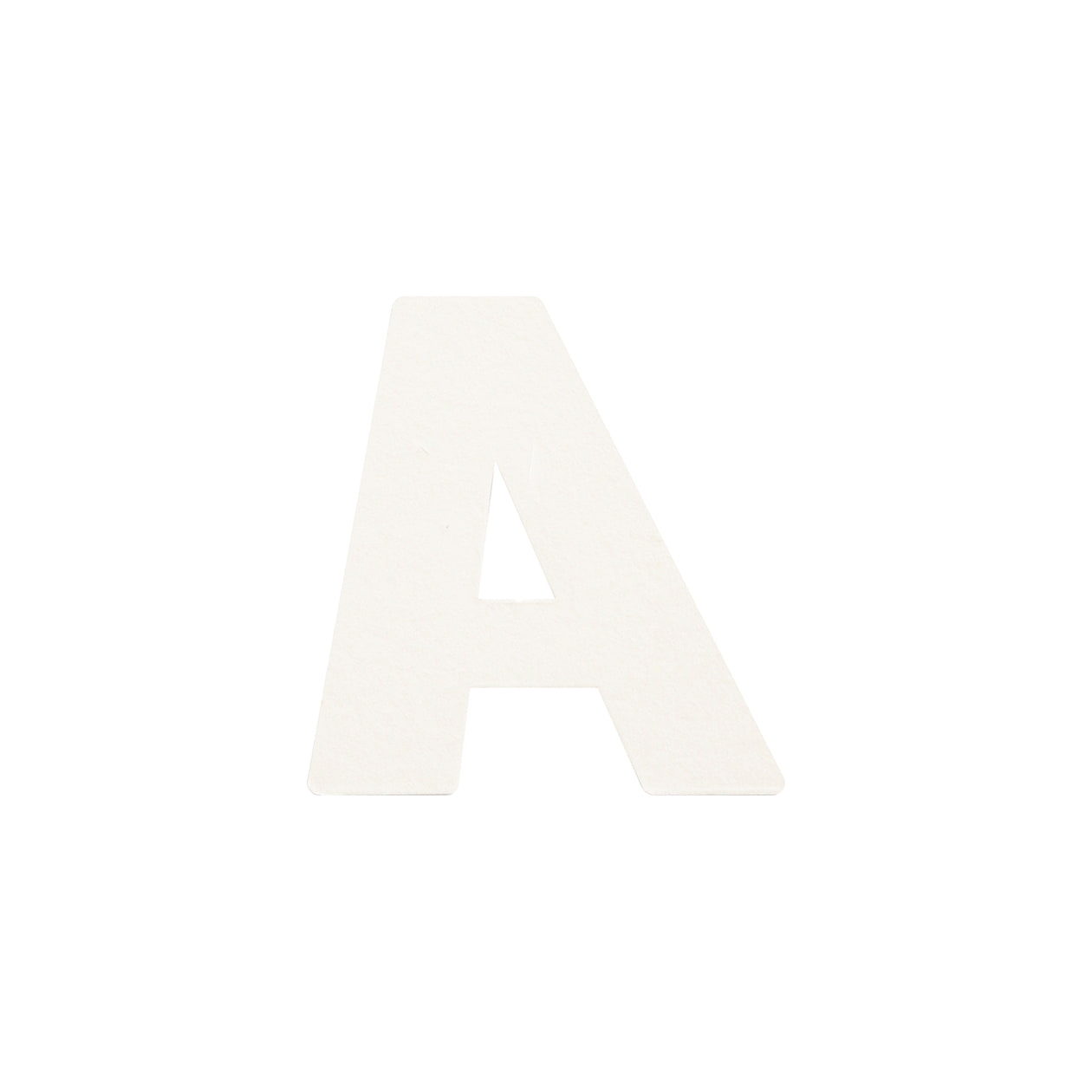 No.395ボード A7カードDC 文字A シルバー