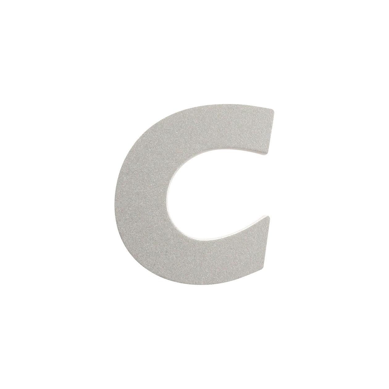 No.395ボード A7カードDC 文字C シルバー