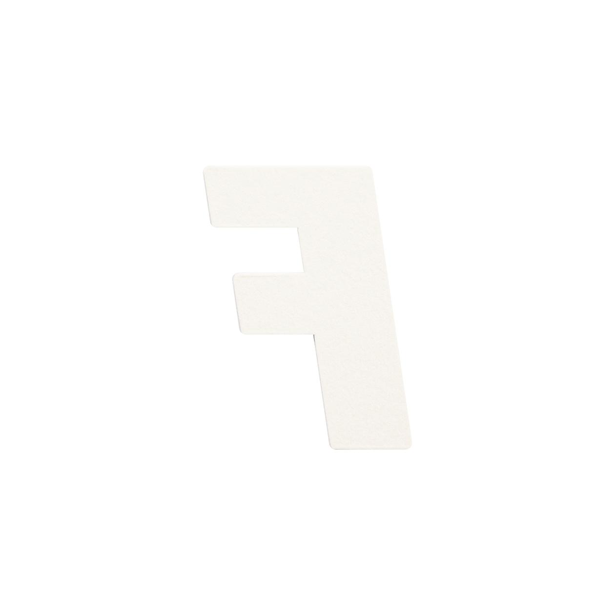 No.395ボード A7カードDC 文字F シルバー