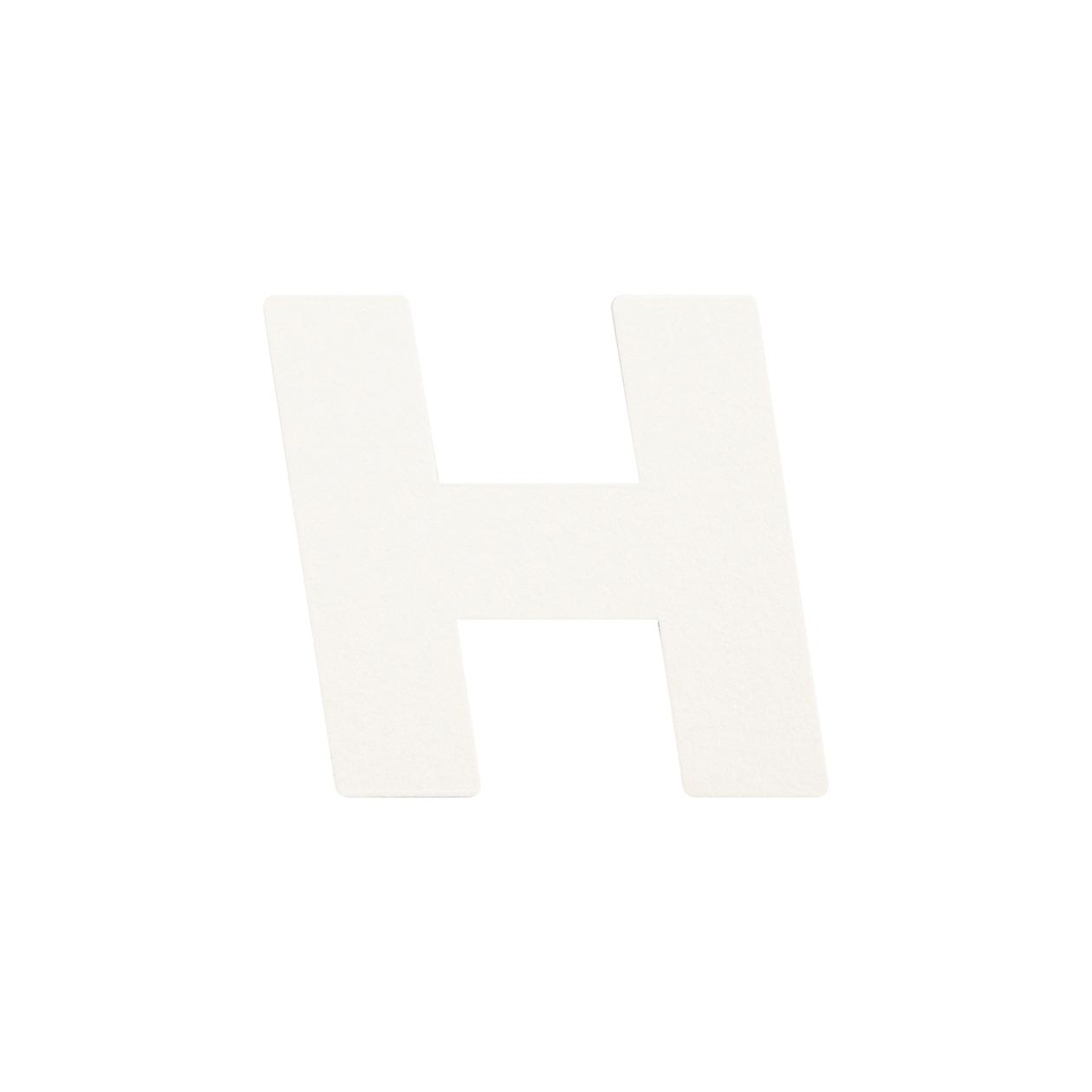 No.395ボード A7カードDC 文字H シルバー