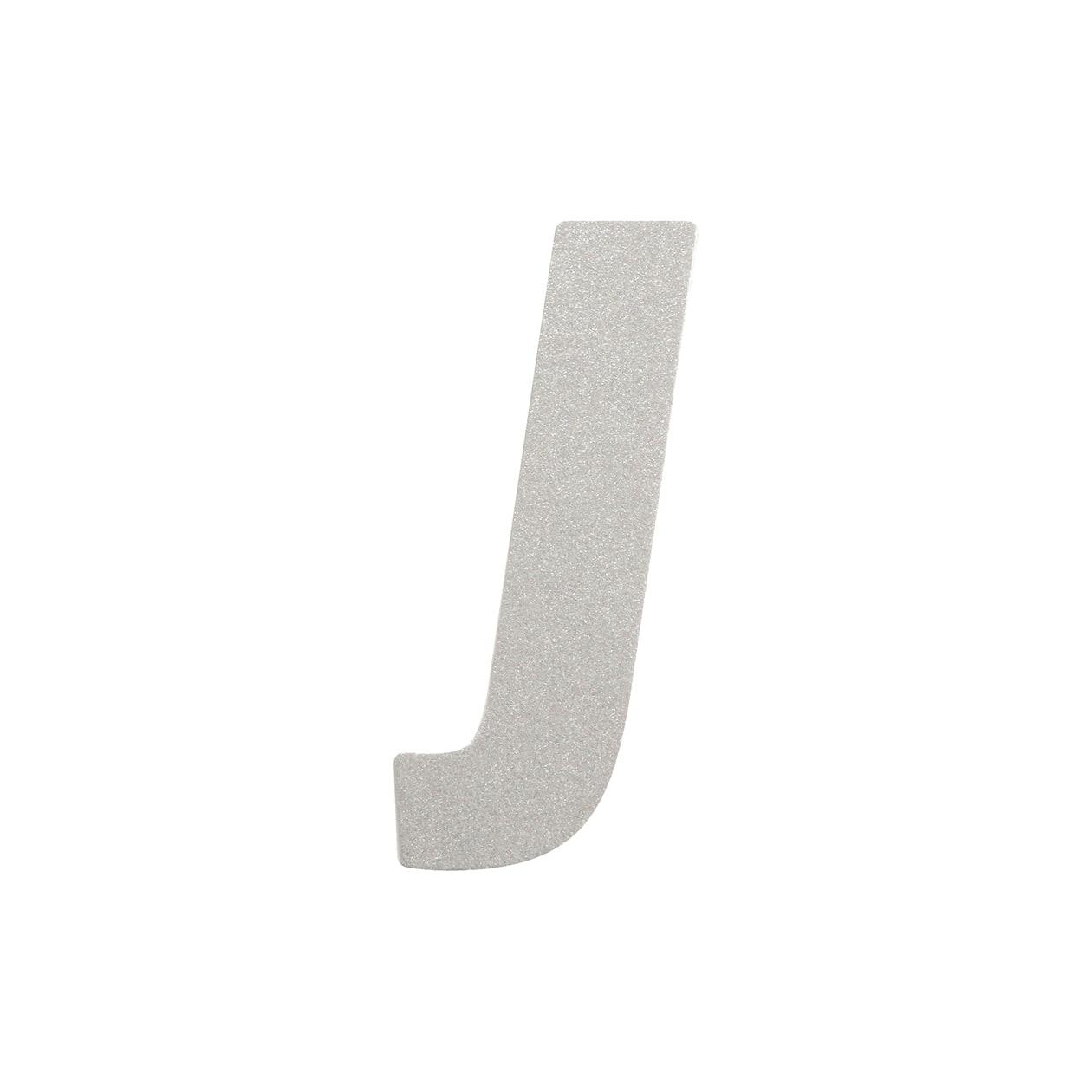 No.395ボード A7カードDC 文字J シルバー