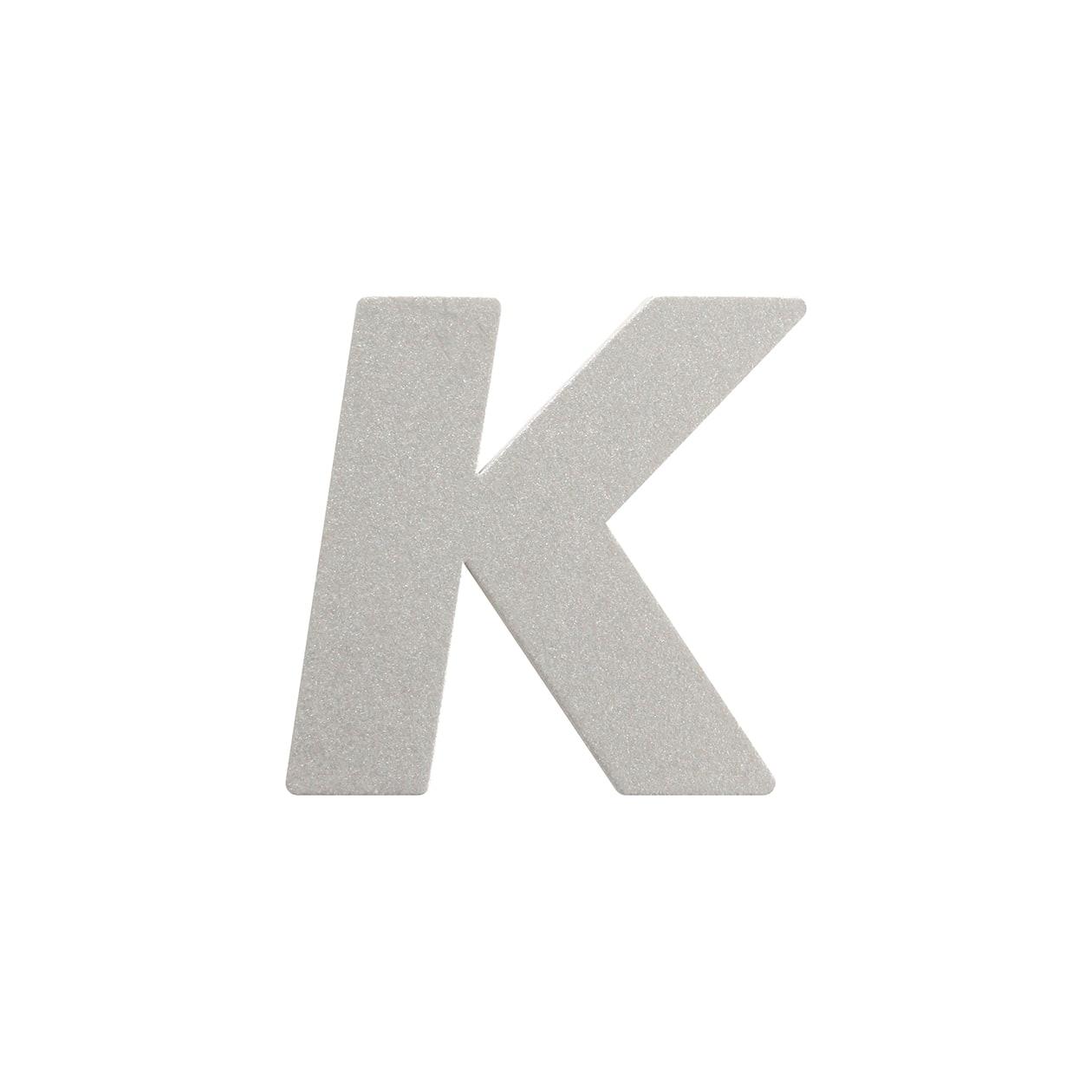 No.395ボード A7カードDC 文字K シルバー