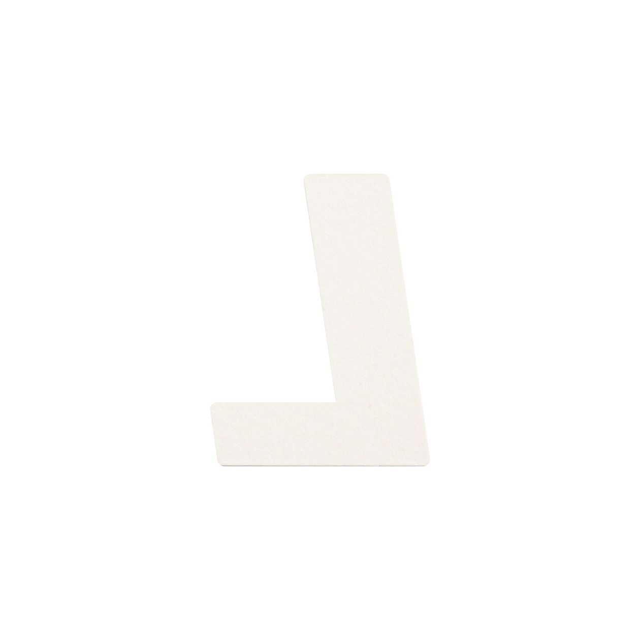 No.395ボード A7カードDC 文字L シルバー