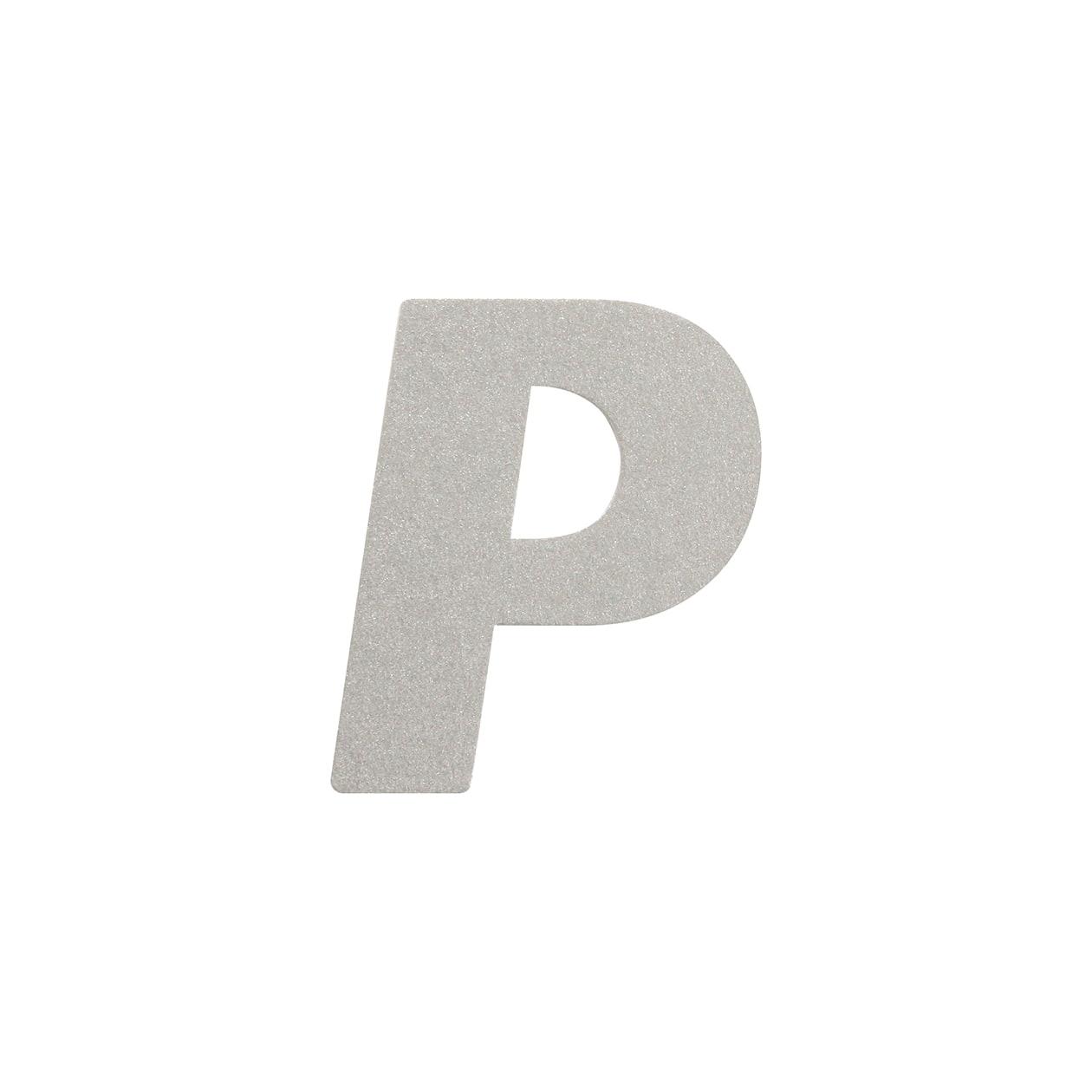 No.395ボード A7カードDC 文字P シルバー