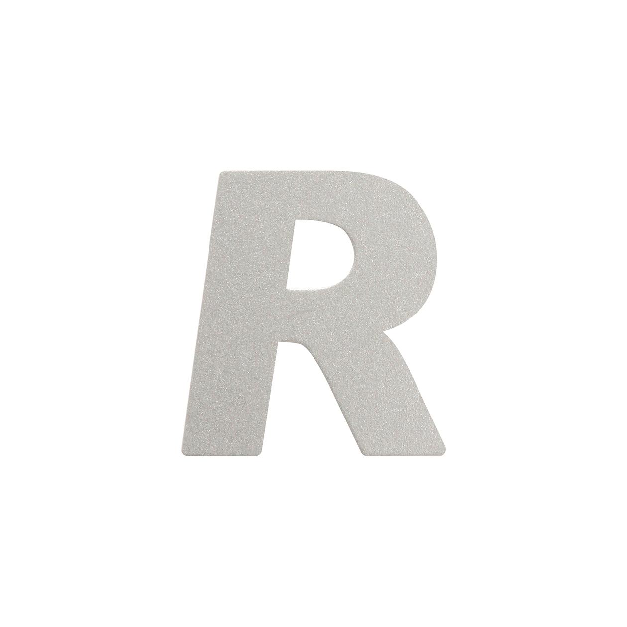 No.395ボード A7カードDC 文字R シルバー