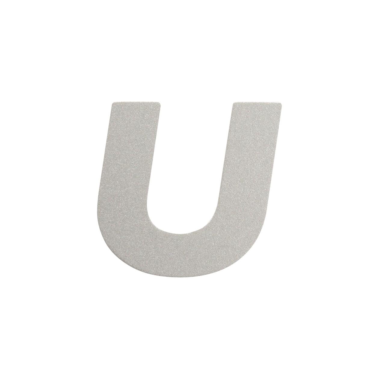 No.395ボード A7カードDC 文字U シルバー