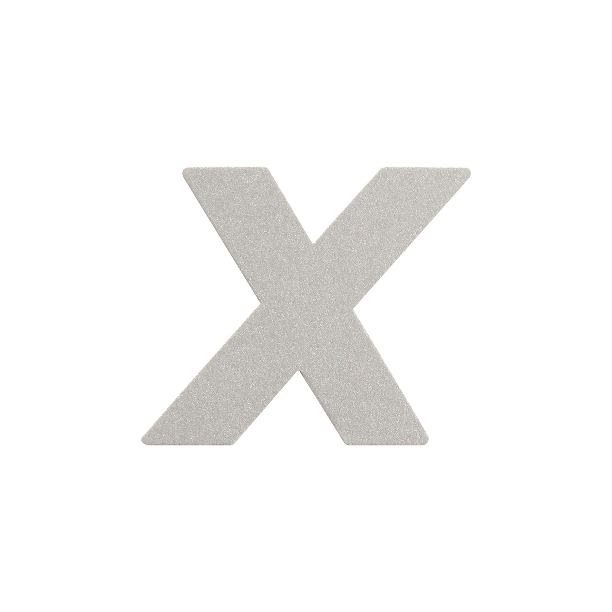 No.395ボード A7カードDC 文字X シルバー