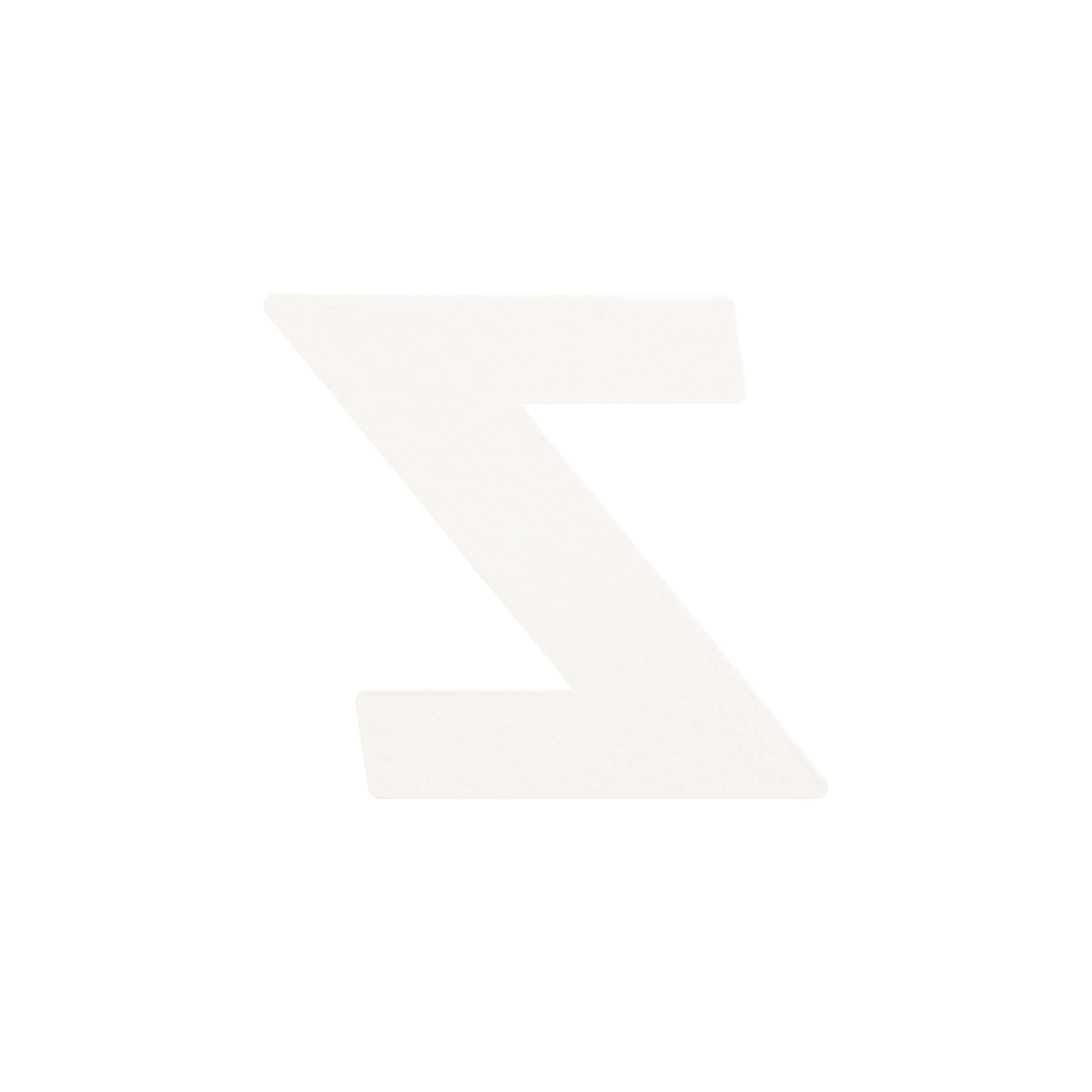 No.395ボード A7カードDC 文字Z シルバー