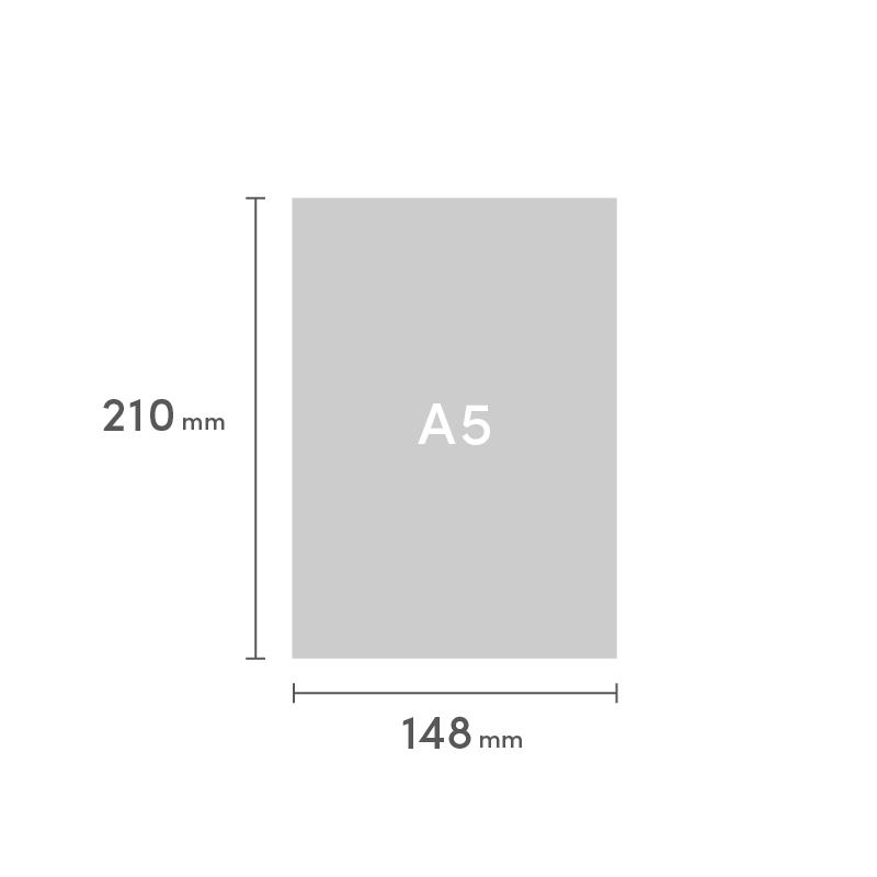 A5 糸ミシン中綴じ 表紙と本文別仕様
