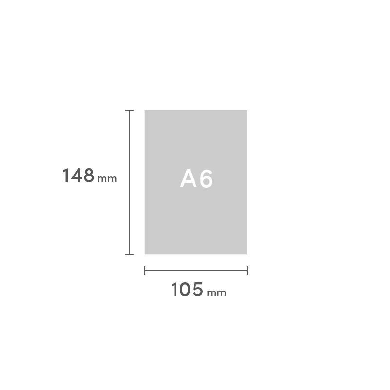 A6 糸ミシン中綴じ 表紙と本文別仕様