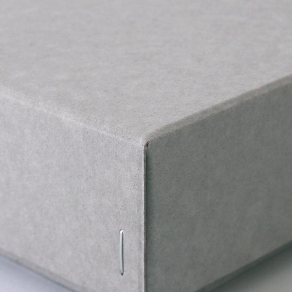 ホッチキス箱 サイズM_4 ボード紙 グレー