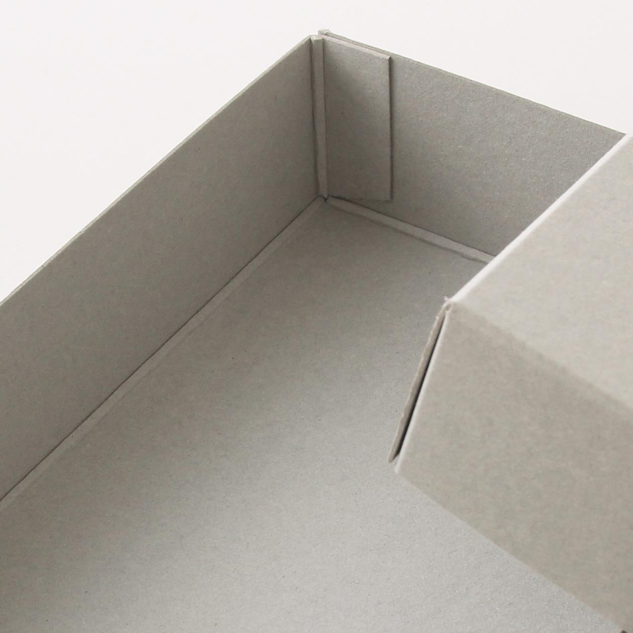 糊どめ箱 サイズS_自由 ボード紙 グレー