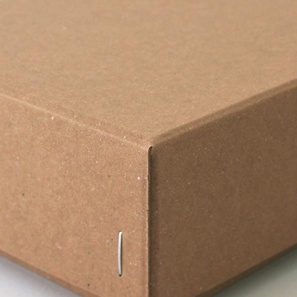 ホッチキス箱 サイズM_4 ボード紙 ブラウン