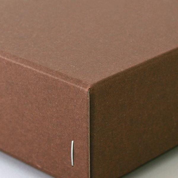ホッチキス箱 サイズM_4 ボード紙 チョコレート