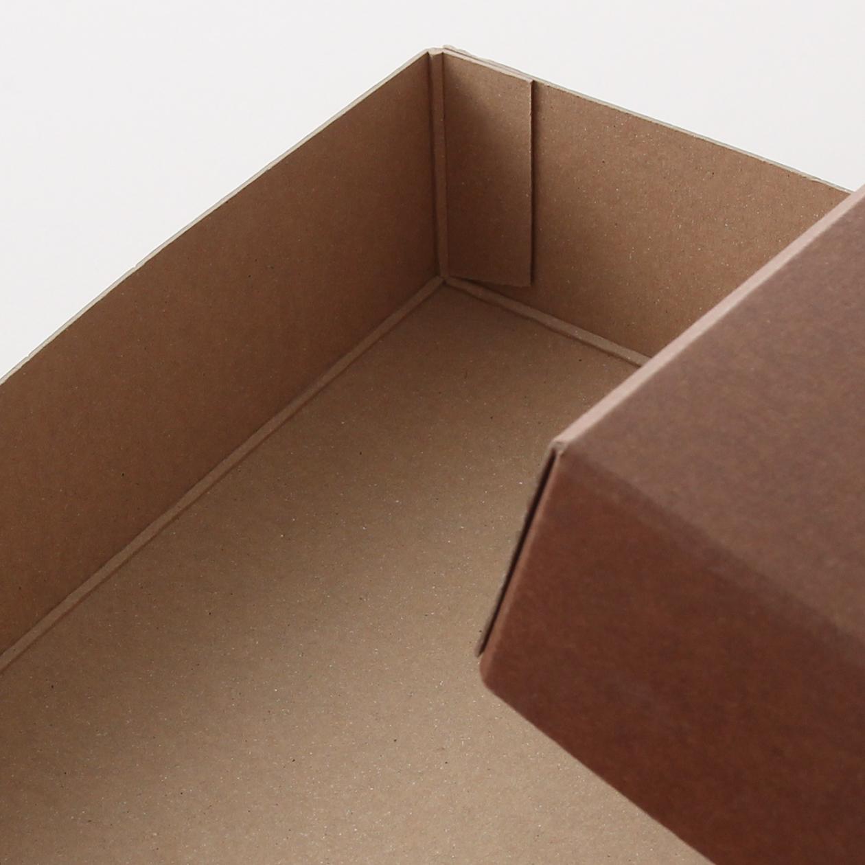 糊どめ箱 サイズM_2 ボード紙 チョコレート