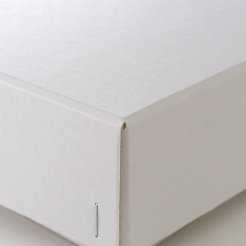 ホッチキス箱 サイズM_4 ボード紙 ハイホワイト
