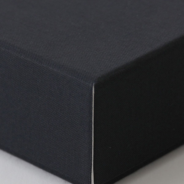 糊どめ箱 サイズM_4 細布 ブラック×グレー