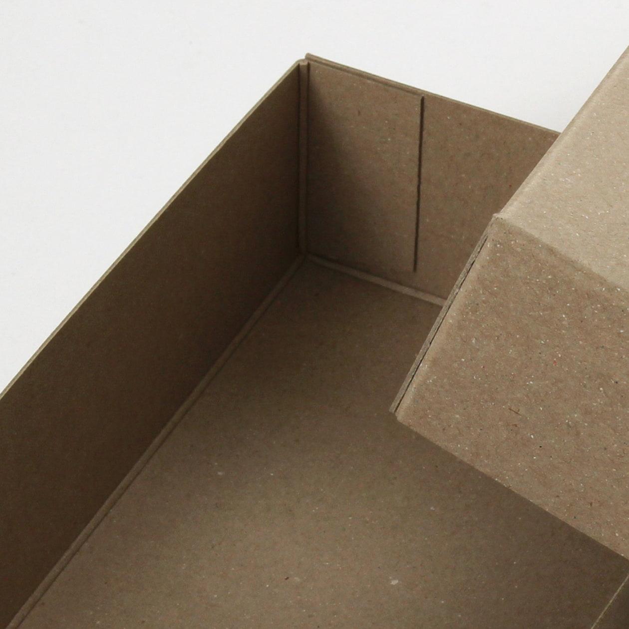糊どめ箱 サイズM_2 ボード紙 サンド