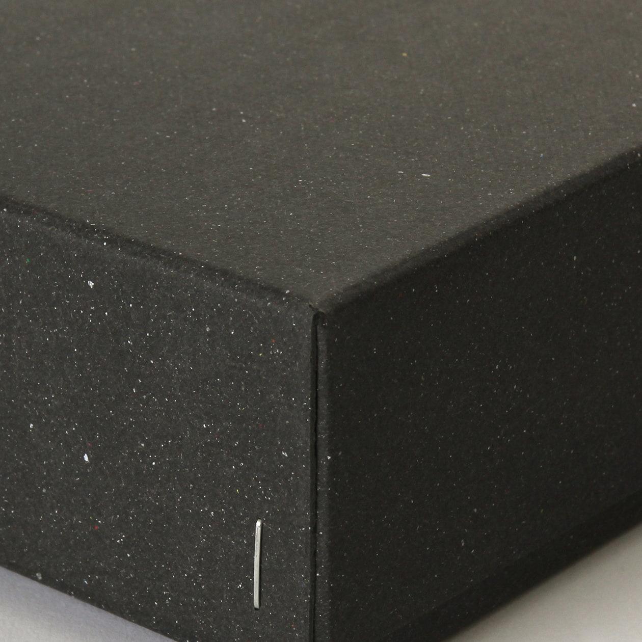 ホッチキス箱 サイズM_4 ボード紙 チャコールグレー