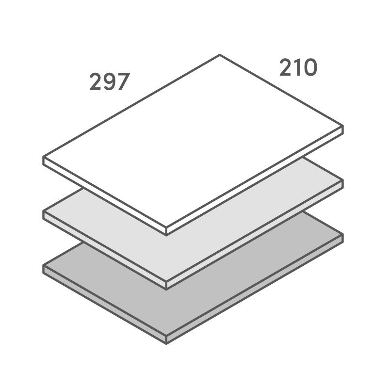 三層合紙オーダー A4カード