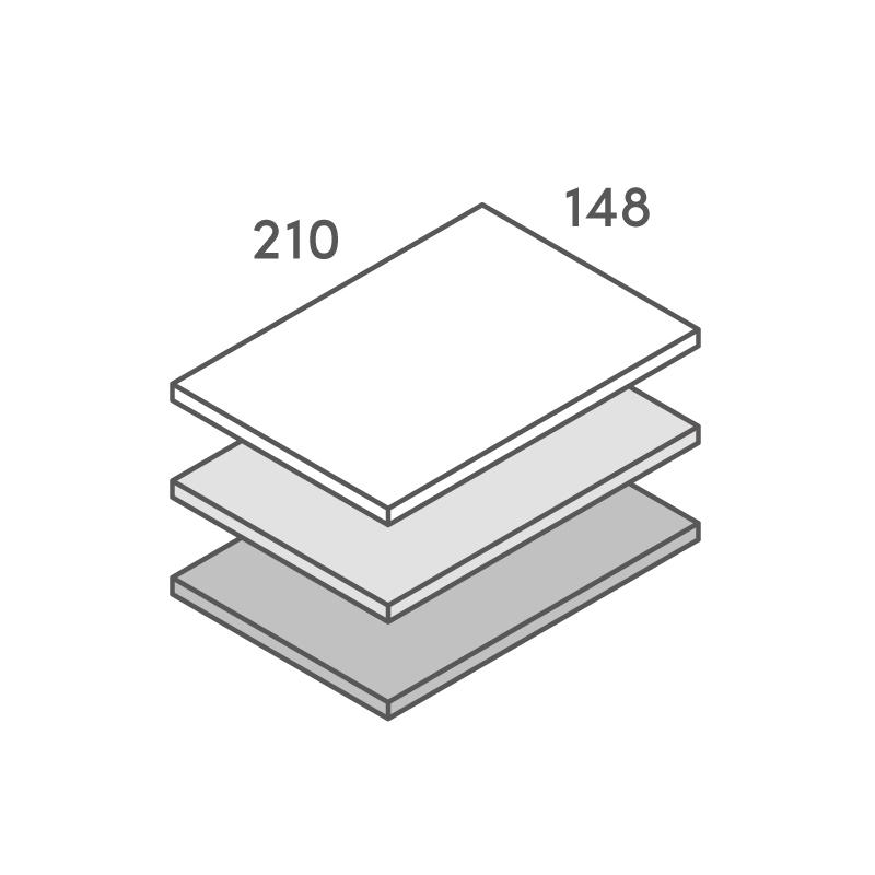 三層合紙オーダー A5カード