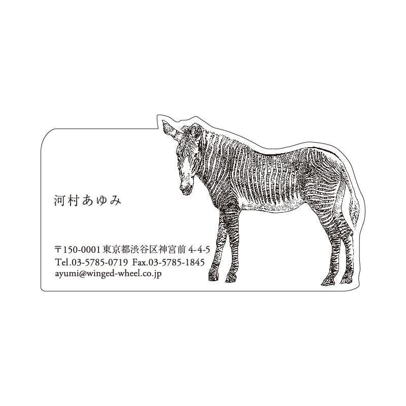 No.602 シマウマ ネームカードDC
