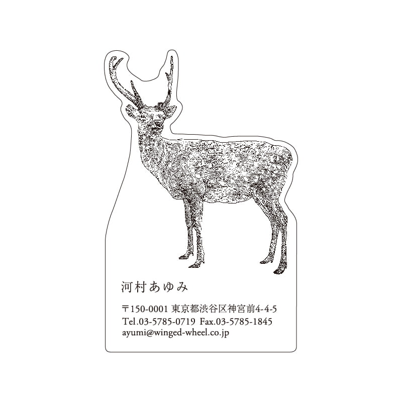 No.602 シカ ネームカードDC