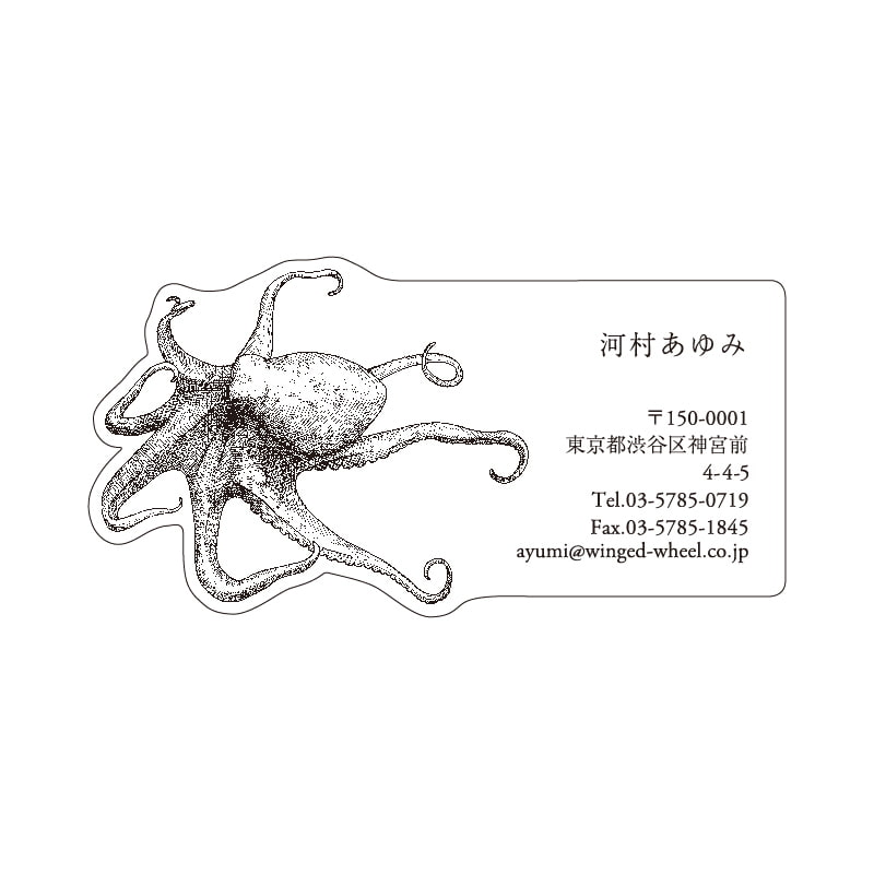 No.602 タコ ネームカードDC