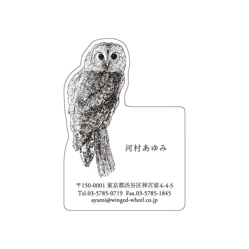 No.602 フクロウ ネームカードDC
