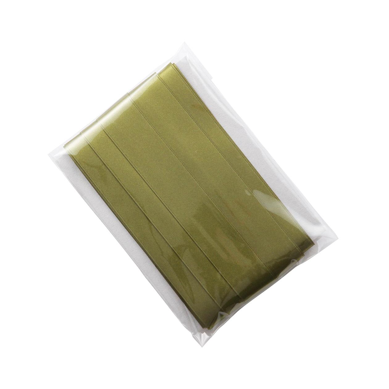 リボン 25mm幅 オリーブ(1パック/10m)