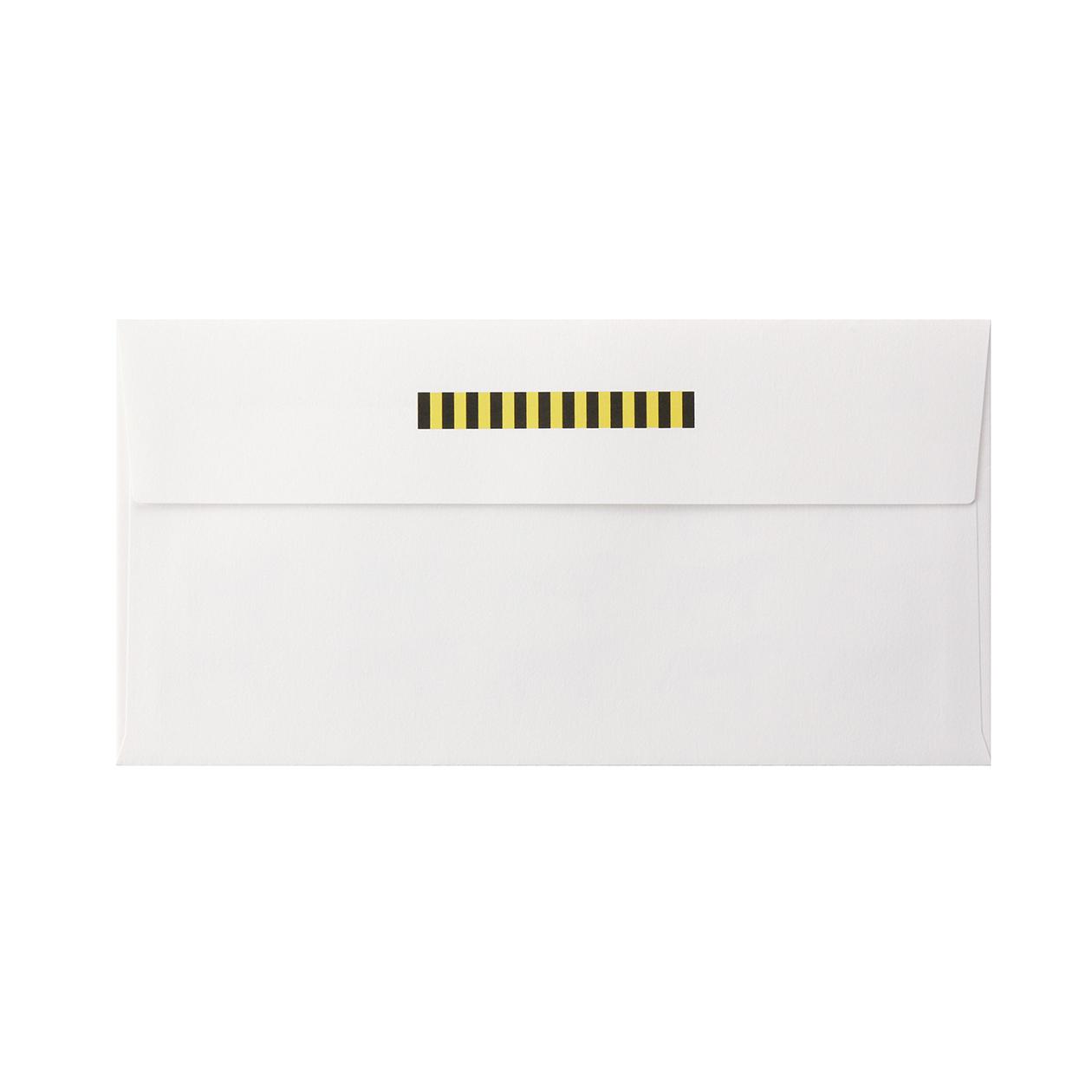 見本 00007 長3カマス封筒 コットン スノーホワイト 116.3g