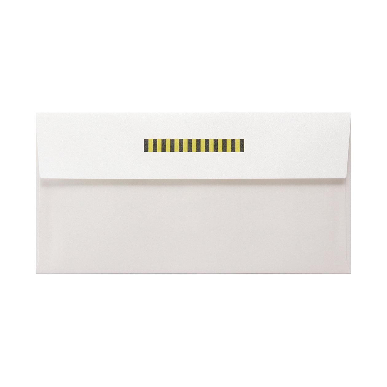 見本 00010 長3カマス封筒 コットンパール スノーホワイト 125.3g