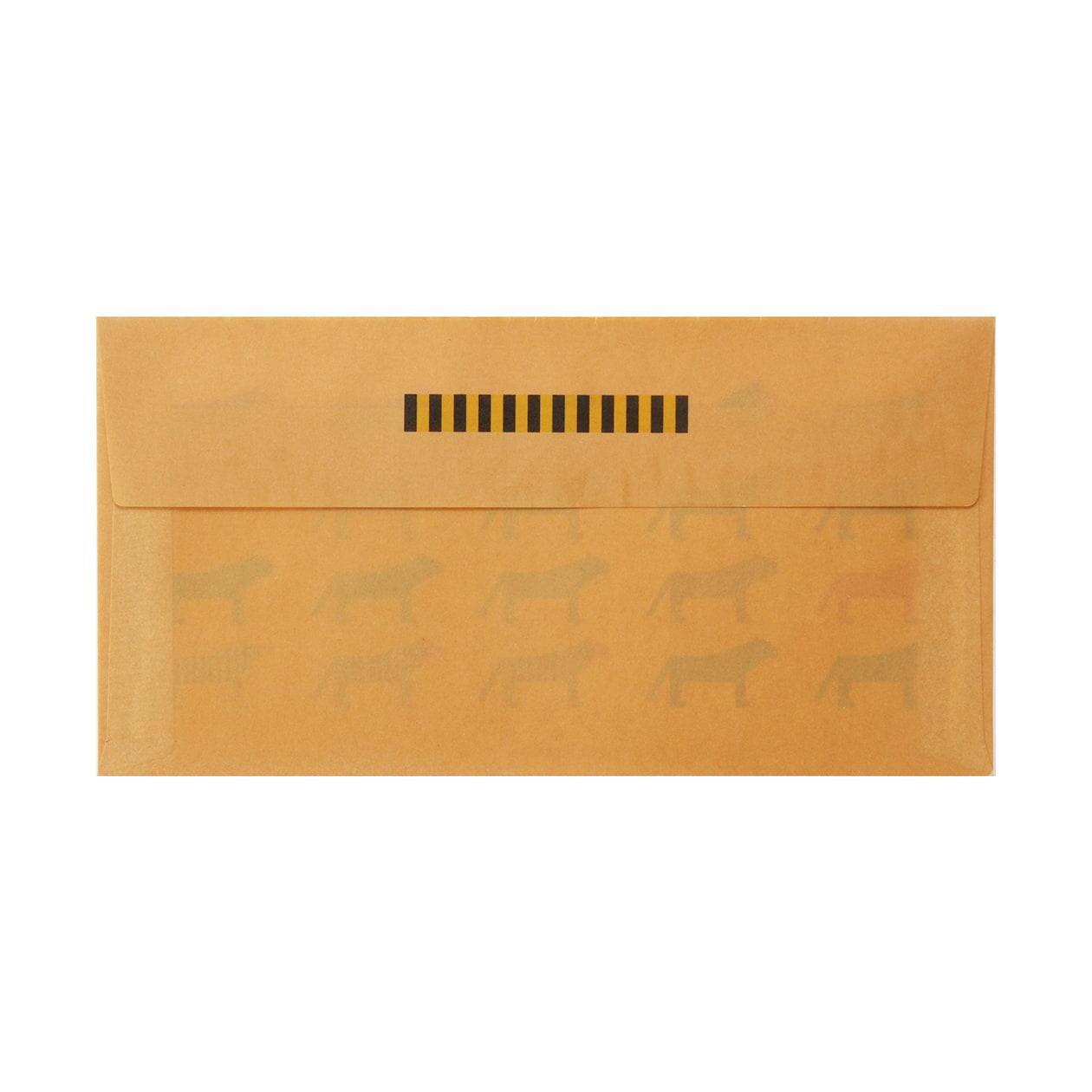 見本 00011 長3カマス封筒 クラフトロウ引き