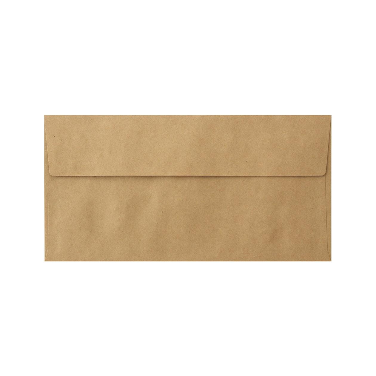 見本 00013 長3カマス封筒 未晒クラフト 100g
