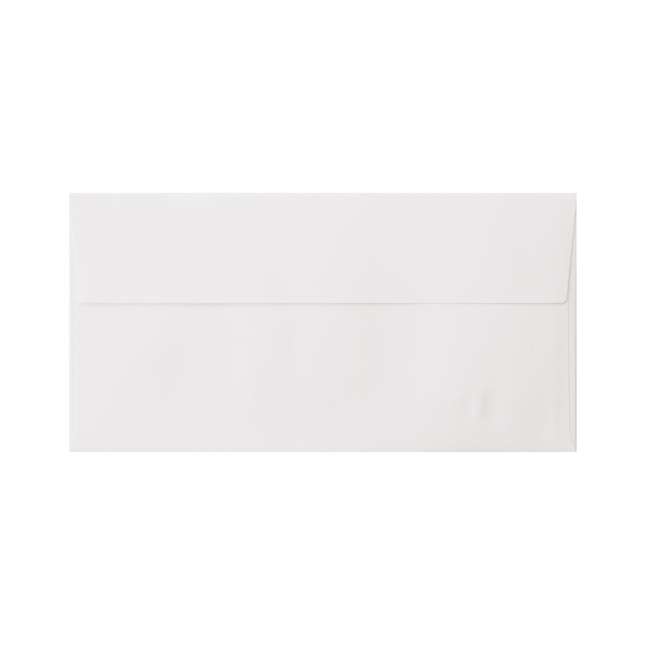 見本 00014 長3カマス封筒 コットン スノーホワイト 116.3g