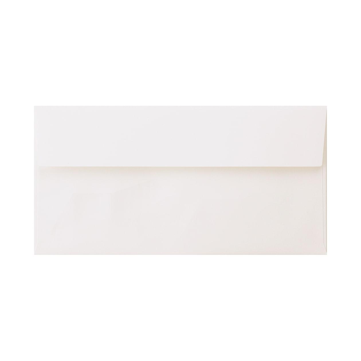 見本 00019 長3カマス封筒 コットン スノーホワイト 116.3g