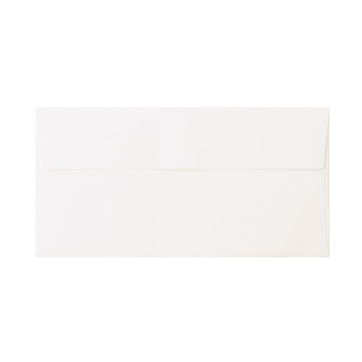 見本 00020 長3カマス封筒 コットン スノーホワイト 116.3g