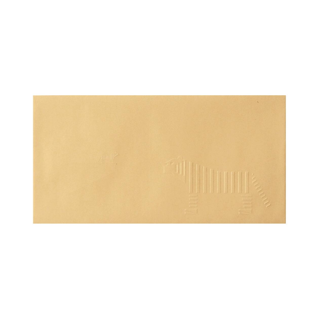 見本 00028 長3カマス封筒 クラフト 85g