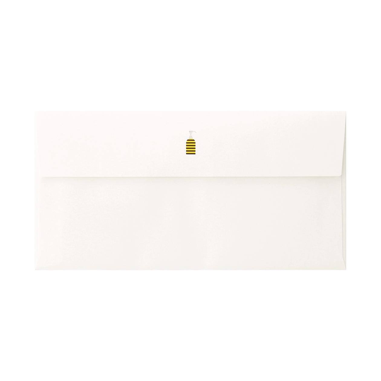 見本 00126 長3カマス封筒 コットン スノーホワイト 116.3g