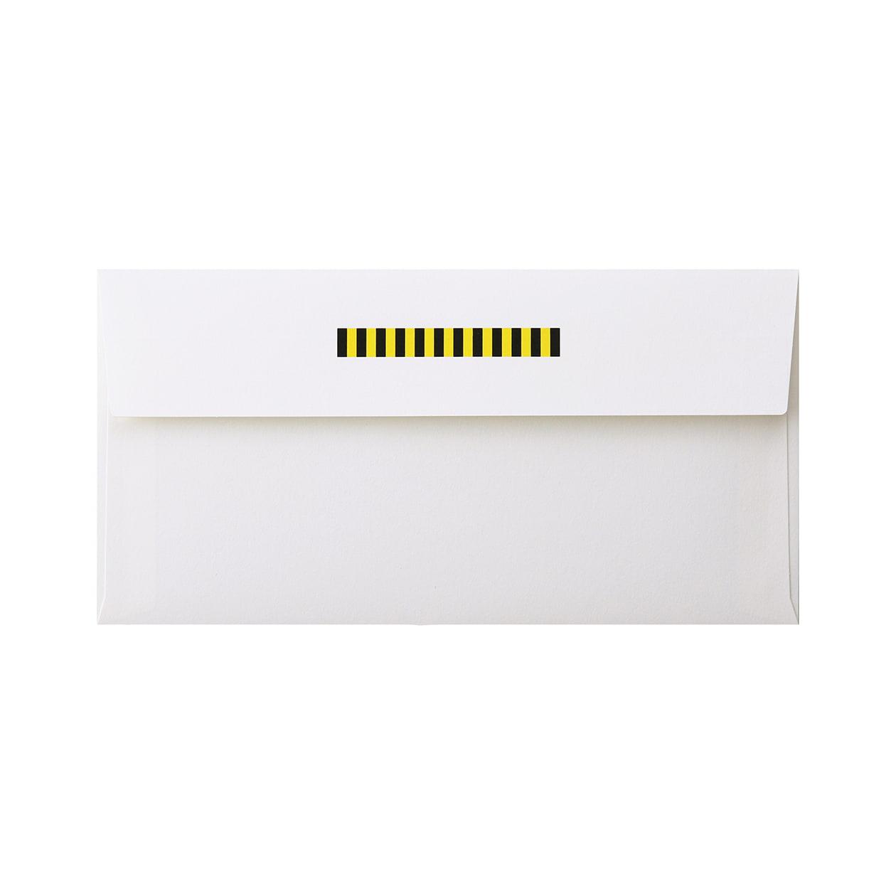 見本 00217 長3カマス封筒 コットン スノーホワイト 116.3g