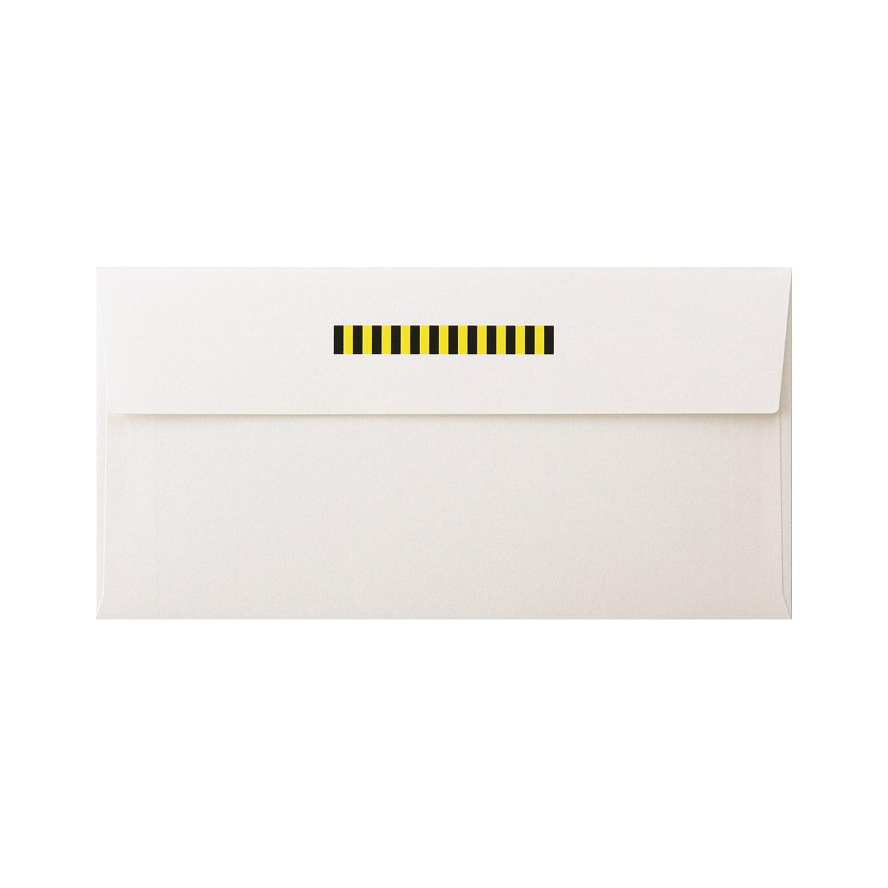 見本 00220 長3カマス封筒 コットンパール スノーホワイト 125.3g