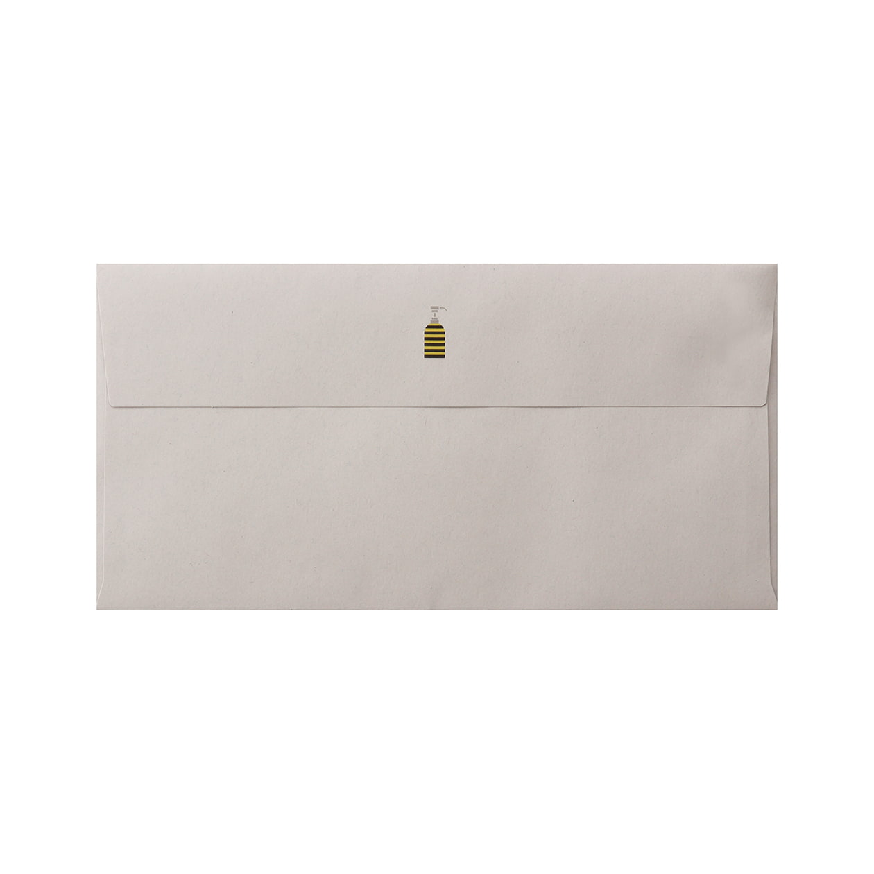 見本 00222 長3カマス封筒 HAGURUMA Basic ライナーグレイ 100g