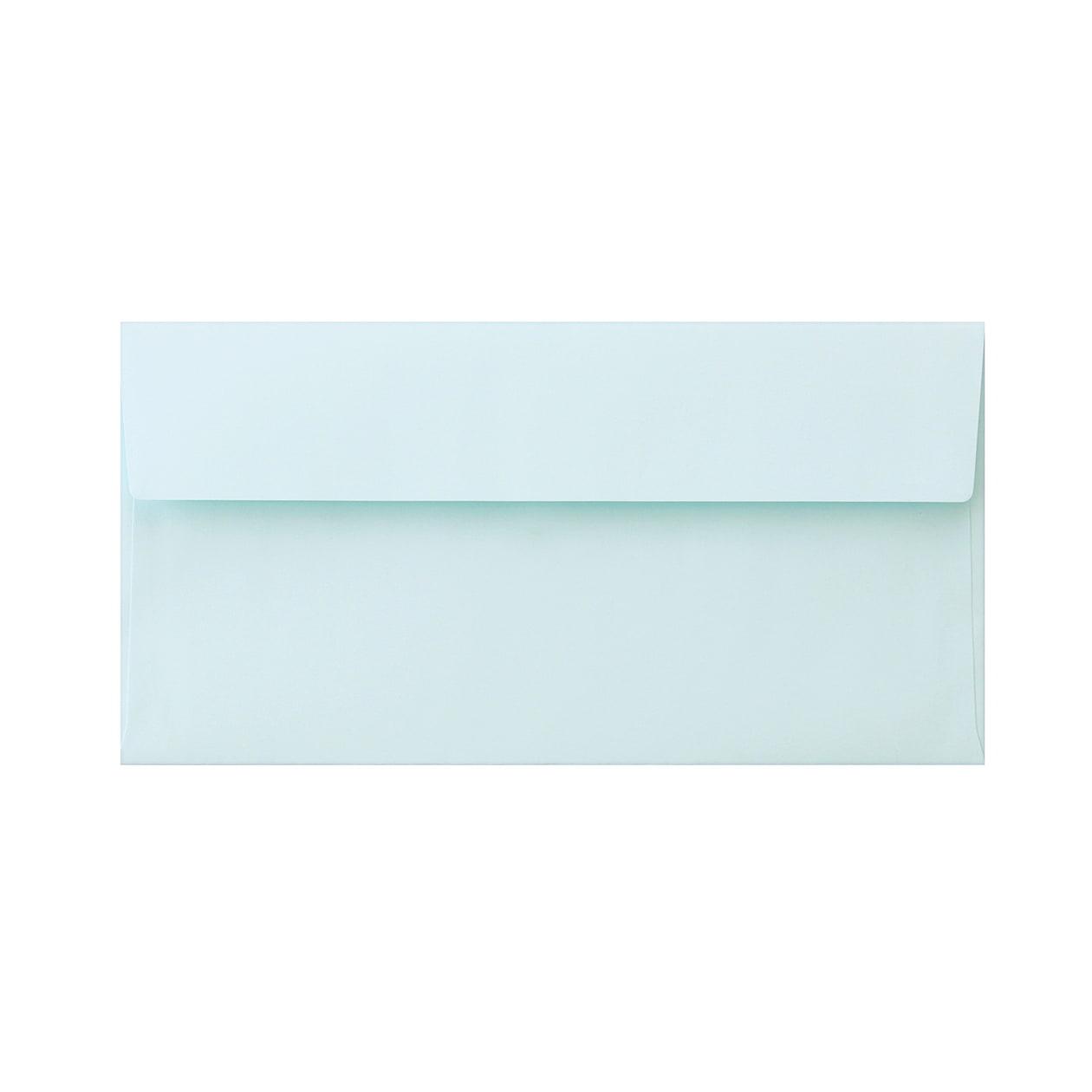 長3カマス封筒 上質カラー ブルー 90.7g