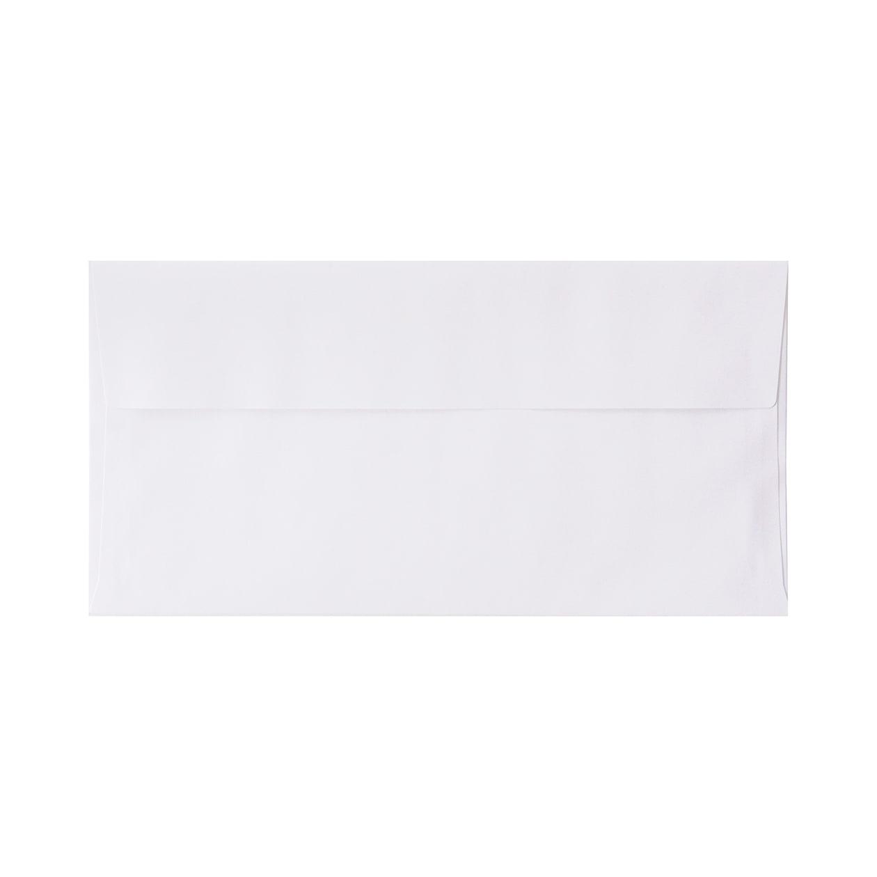 長3カマス封筒 上質カラー ホワイト 90.7g